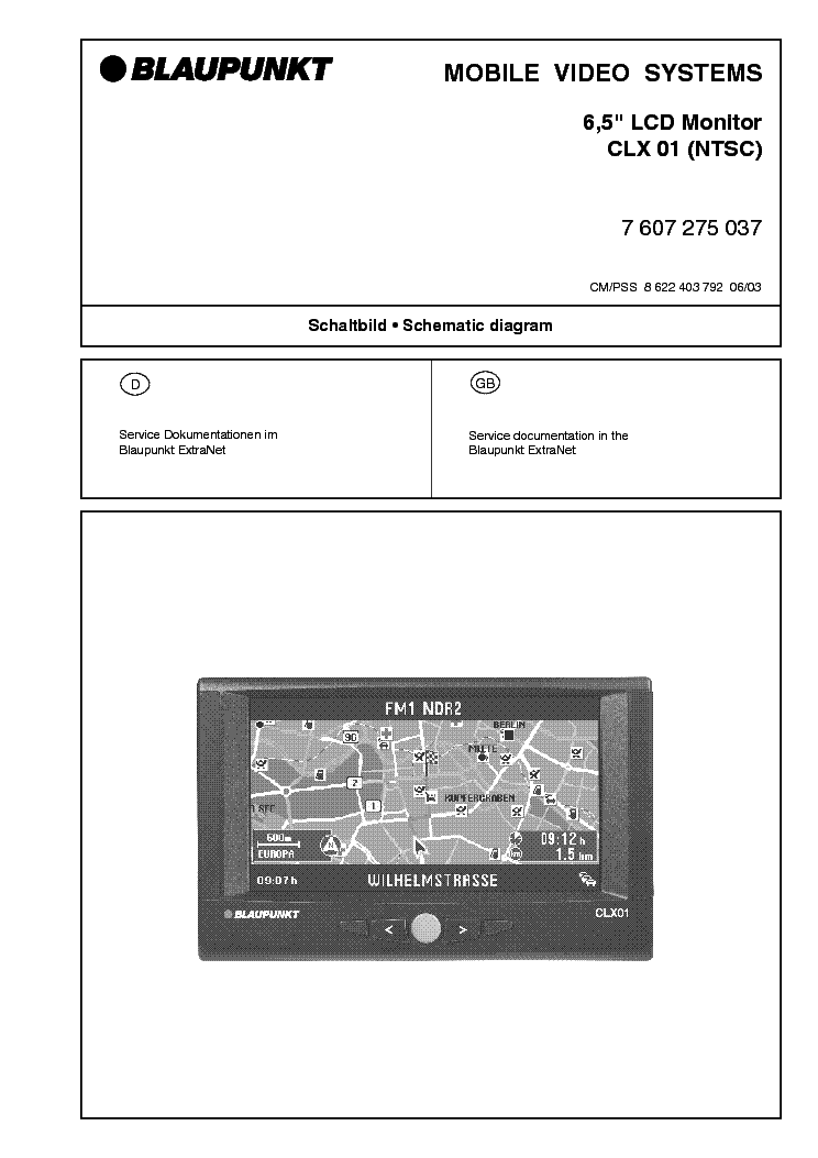 Blaupunkt 6 5 Inch Clx01 Lcd Monitor Service Manual Download  Schematics  Eeprom  Repair Info
