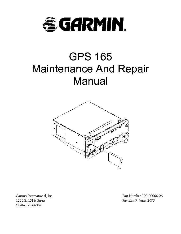 Garmin Line Maintenance Manual