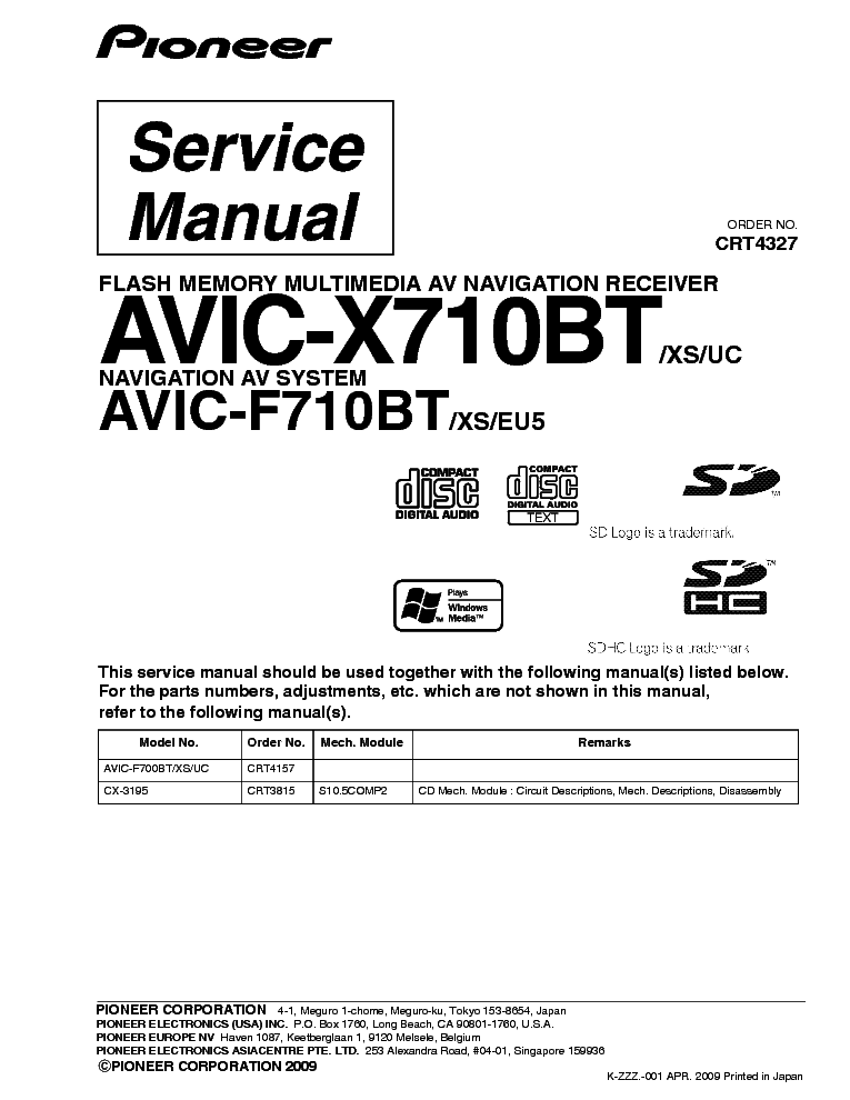 Avic X710bt Wiring Diagram