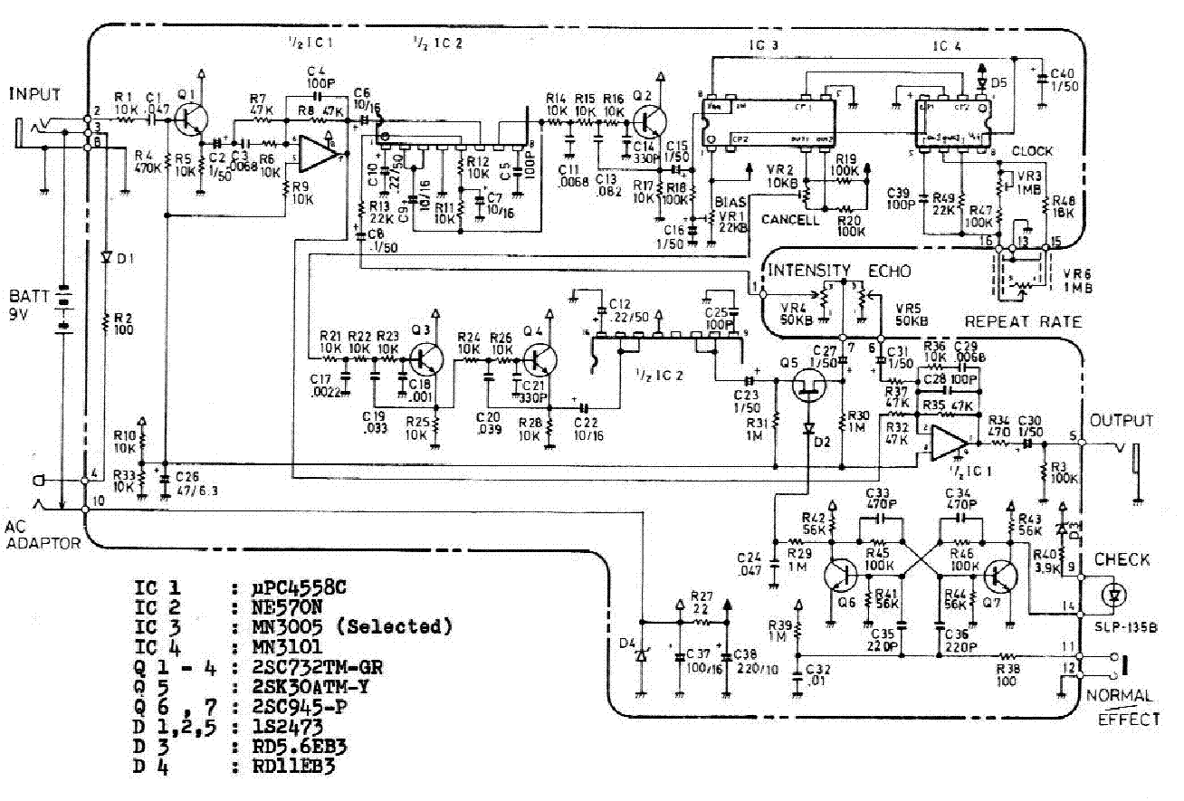 Boss Dm2 Analog Delay Service Manual Download Schematics