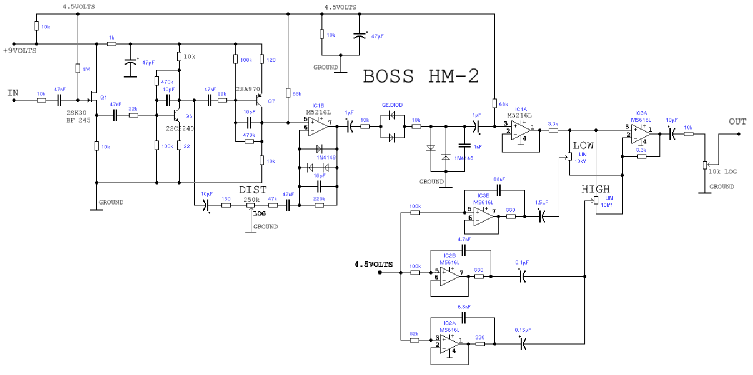 Wren Cuffs Take On The Boss Hm 2 Page 9 Gear Distortion Pedal Schematics Img