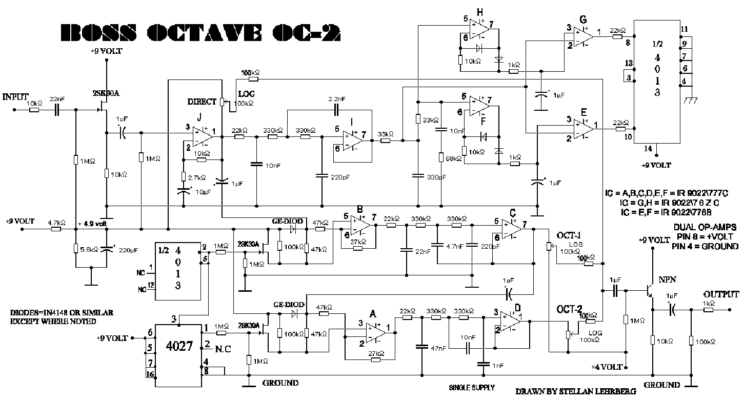 Octavia Pedal Schematic Trusted Wiring Diagram Fuzz Boss Oc2 Octave Service Manual Download Schematics Eeprom Repair Face