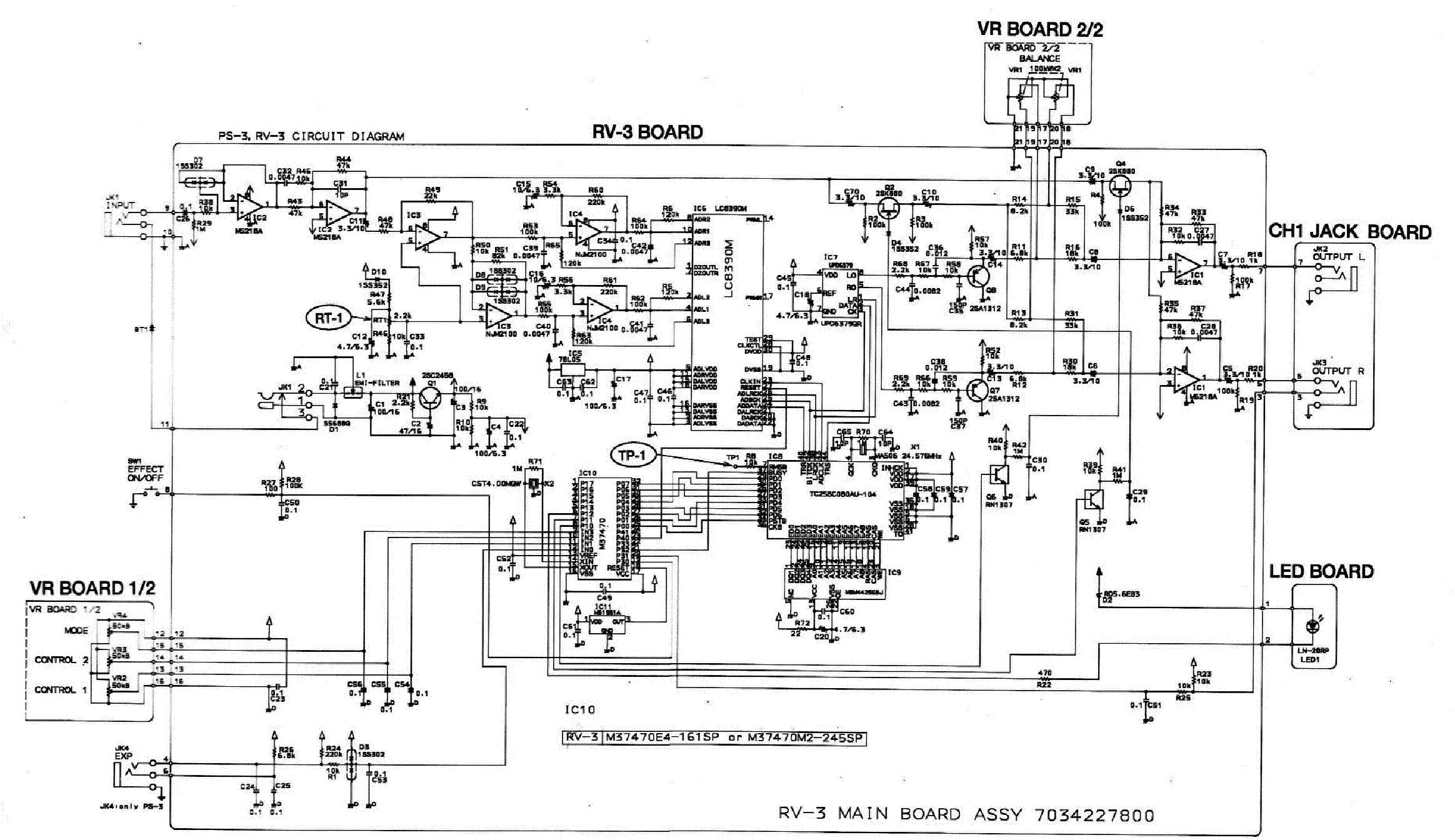 boss rv3 delay reverb service manual download schematics eeprom rh elektrotanya com Boss Reverb Delay Boss RV-3 Copy