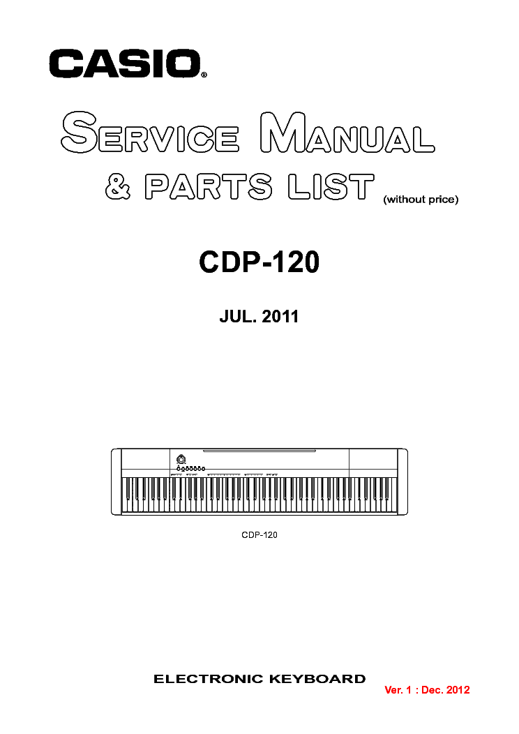Casio mt-65,mt-68,mt-100,ct-405 service manual download.