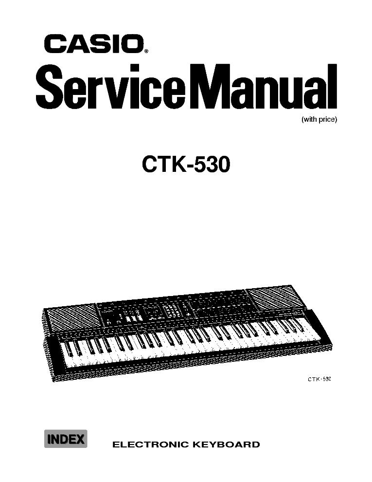 Service manual casio ctk-530 electronic keyboard download manuals.