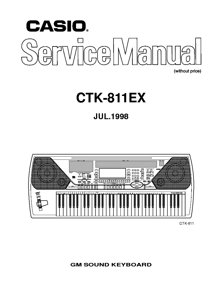 CASIO CTK 811 EX service manual