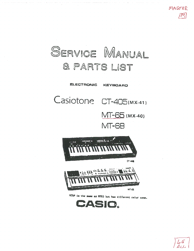 Casio cdp100 service manual.