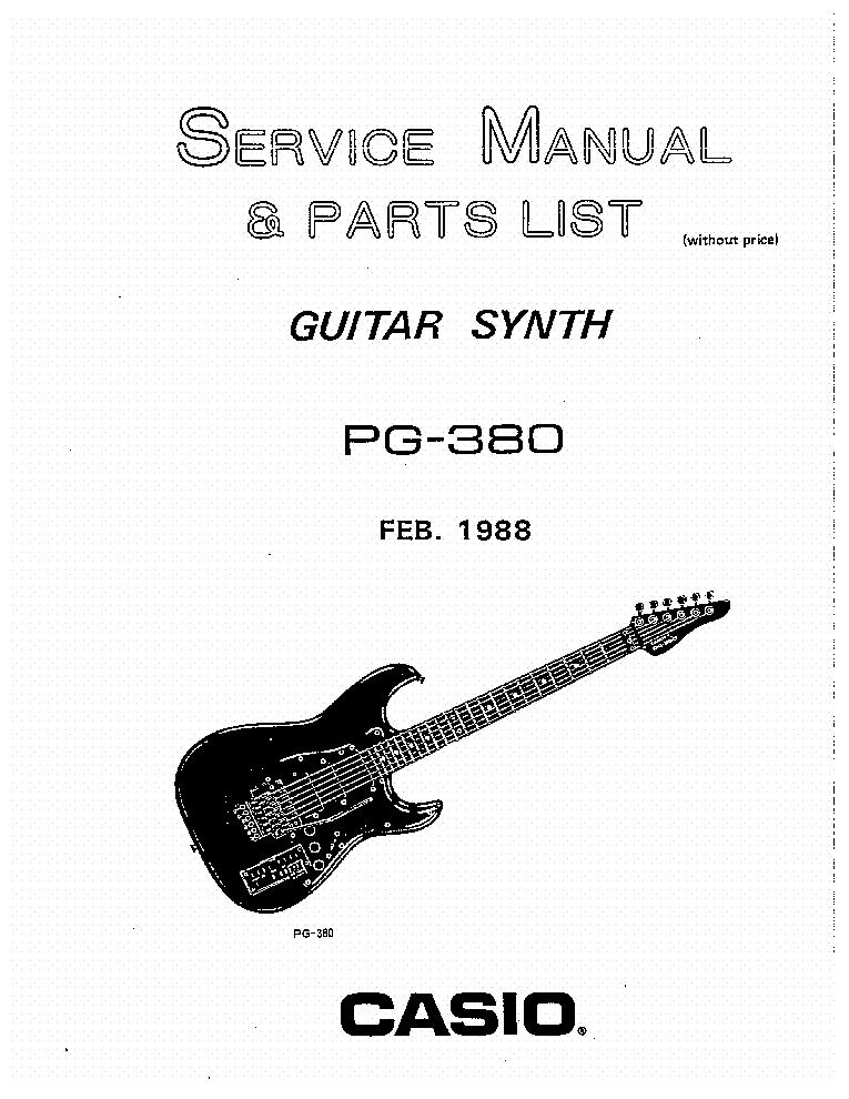 casio pg380 sm service manual download  schematics  eeprom