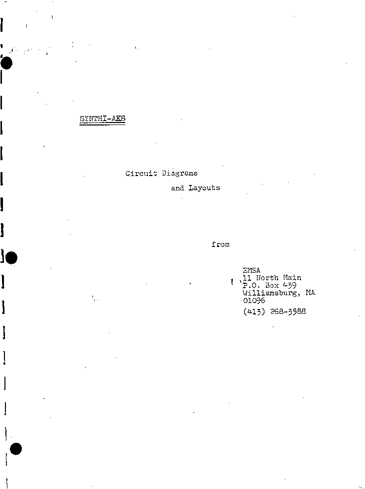 EMSA SYNTHI-AKS SM service manual (1st page)