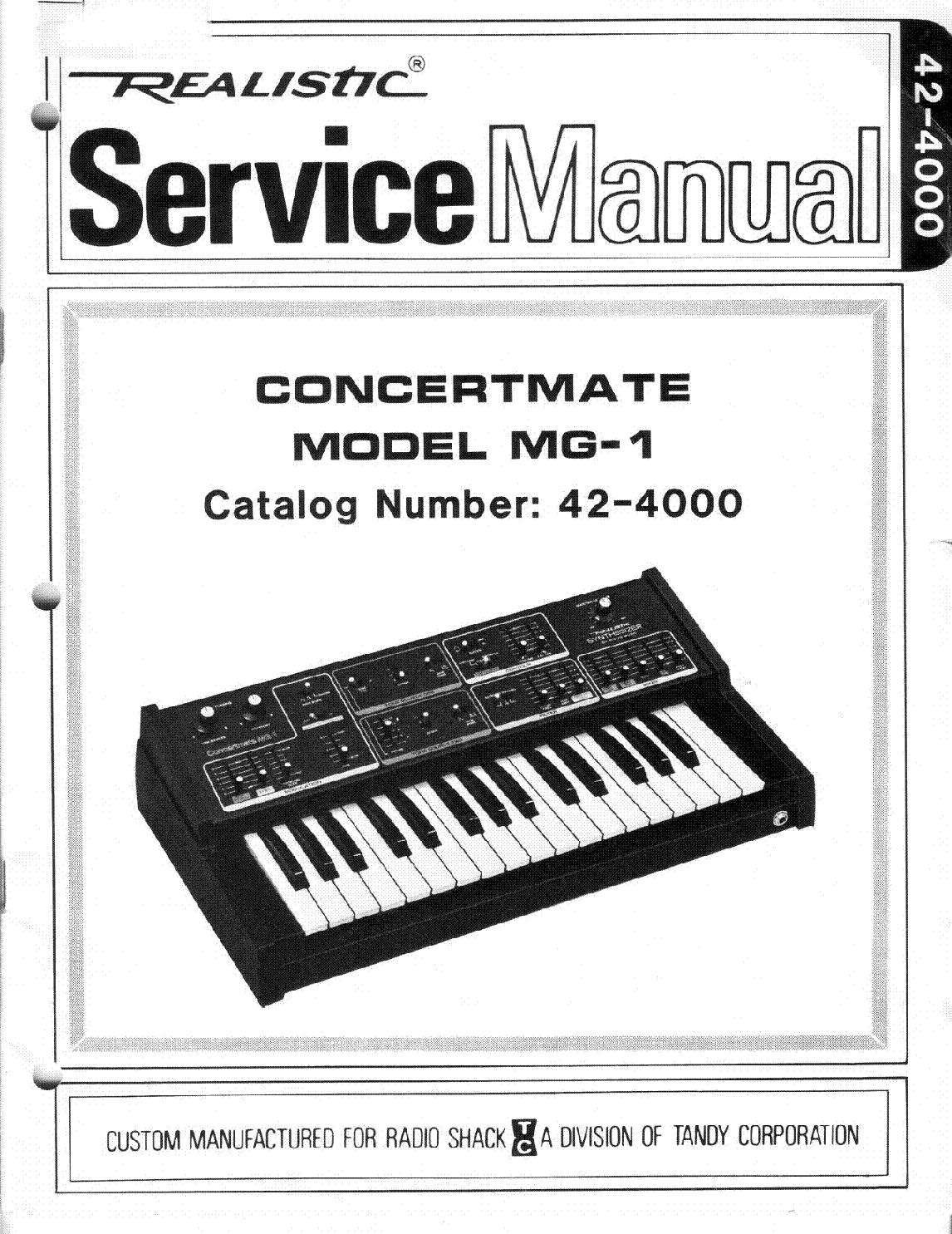 realistic concertmate mg 1 sm service manual download schematics rh elektrotanya com 1 Mg Powder 1 Mg of Salt