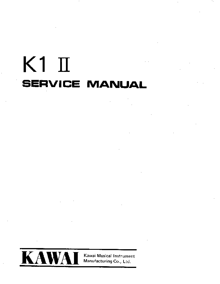KAWAI CN270 SERVICE MANUAL Service Manual free download ...