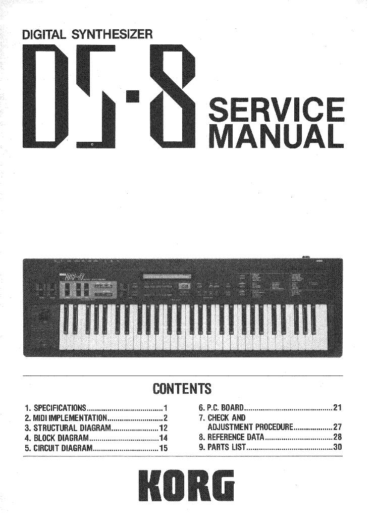 Korg ds-8 manuals.