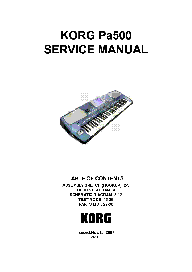 Korg Wiring Diagram | Wiring Diagram