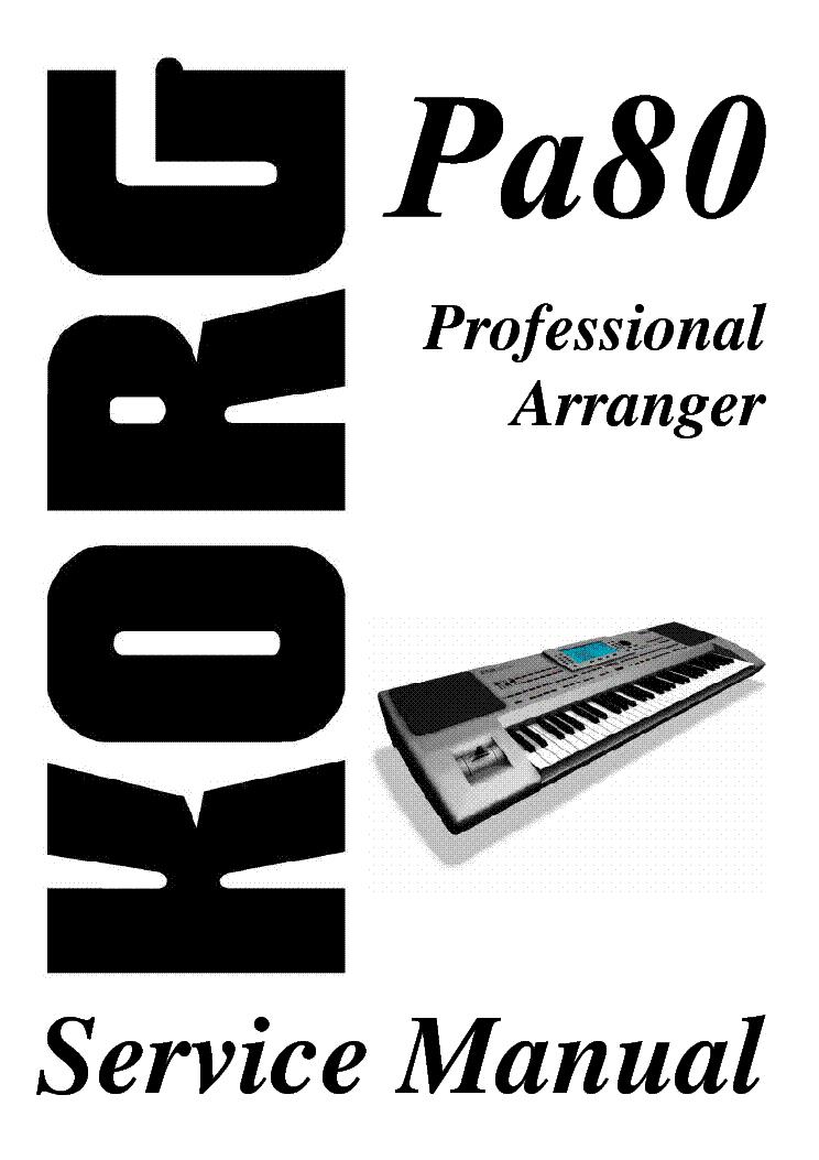 Korg pa800 service manual.