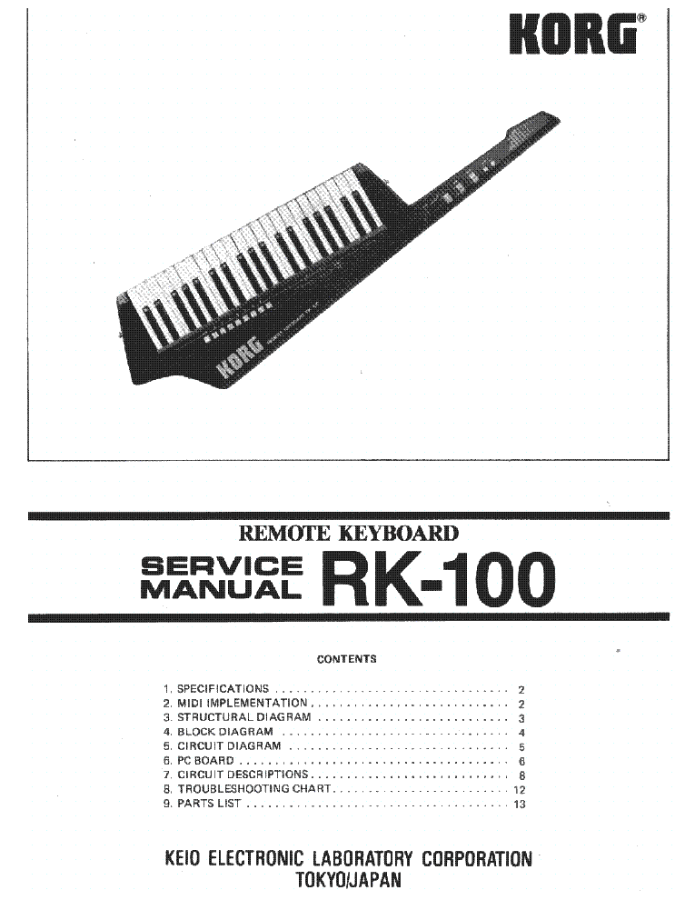 Korg m1 Le instruction manual