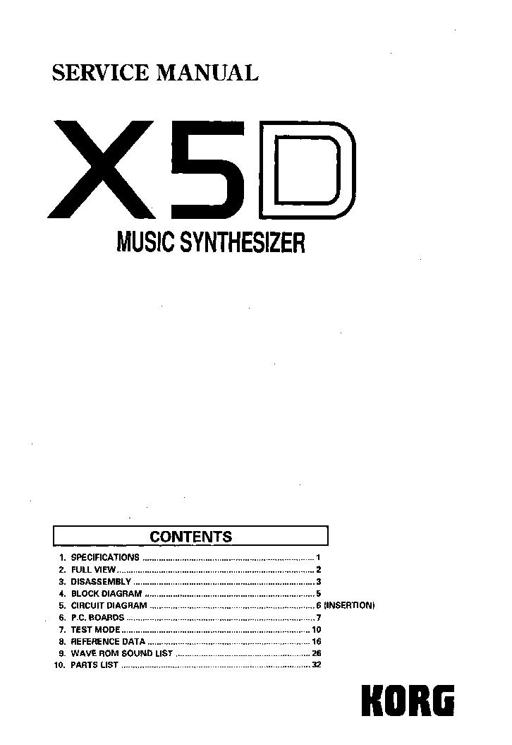 korg x5d sm service manual download schematics eeprom repair info rh elektrotanya com korg x5d manual español korg x5d manual pdf free download