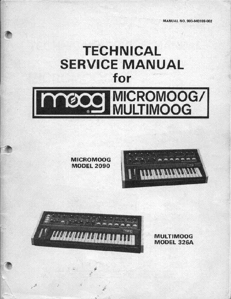 MOOG MICROMOOG MULTIMOOG Service Manual download, schematics, eeprom