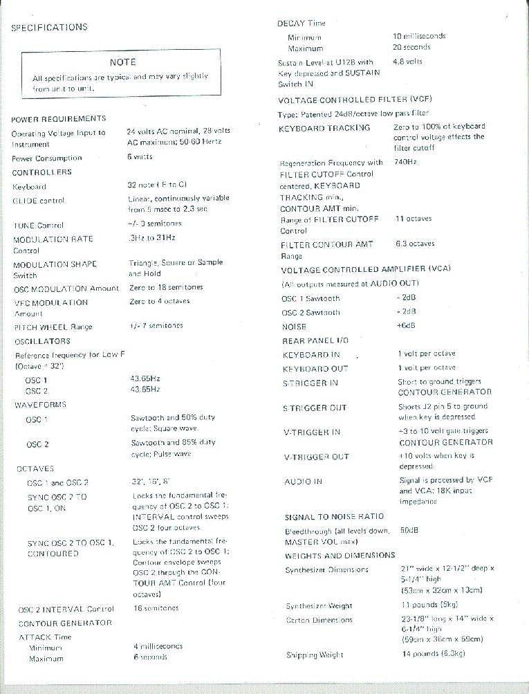 MOOG ROGUE Service Manual download, schematics, eeprom