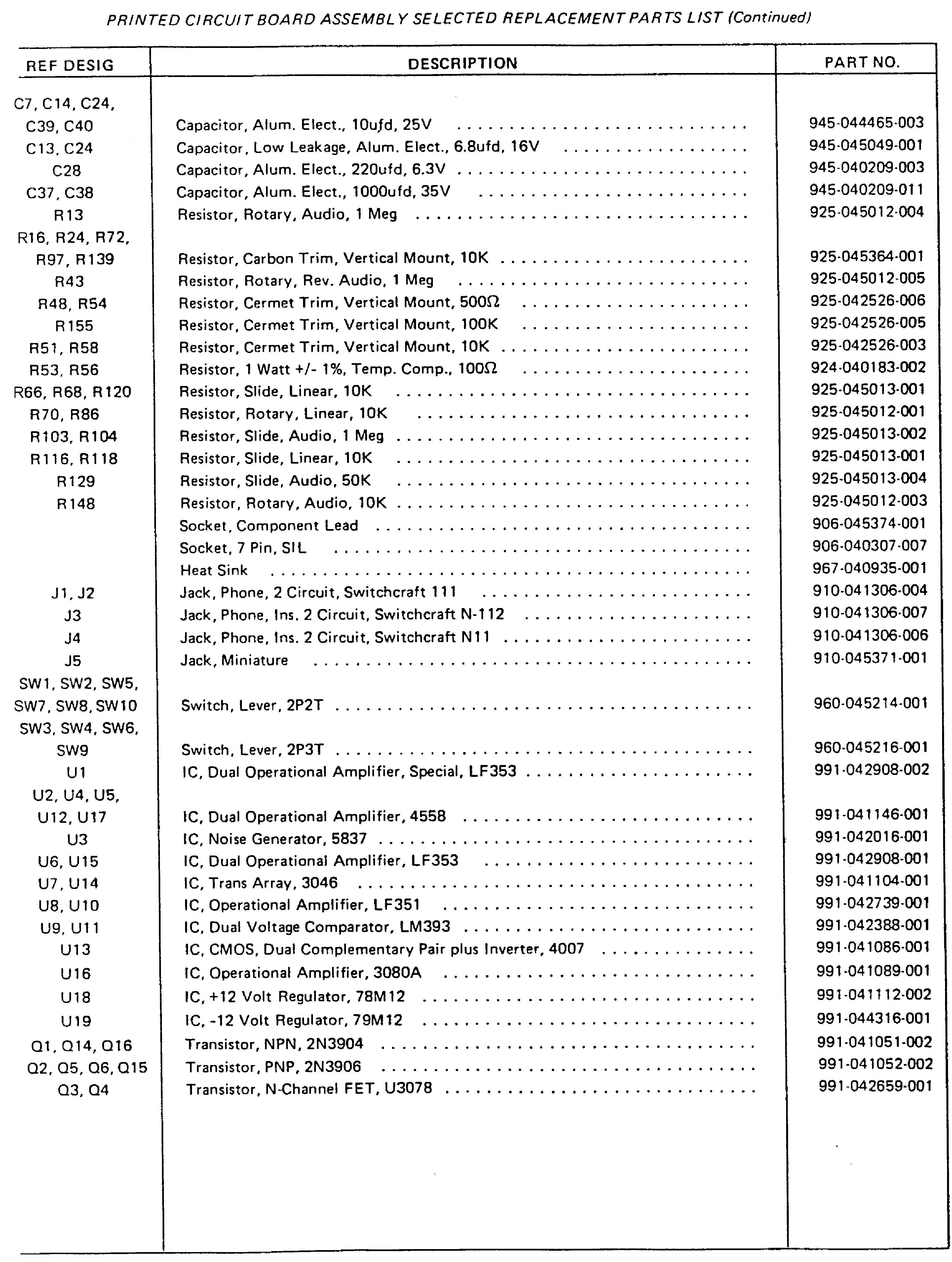MOOG ROGUE 342A Service Manual download, schematics, eeprom