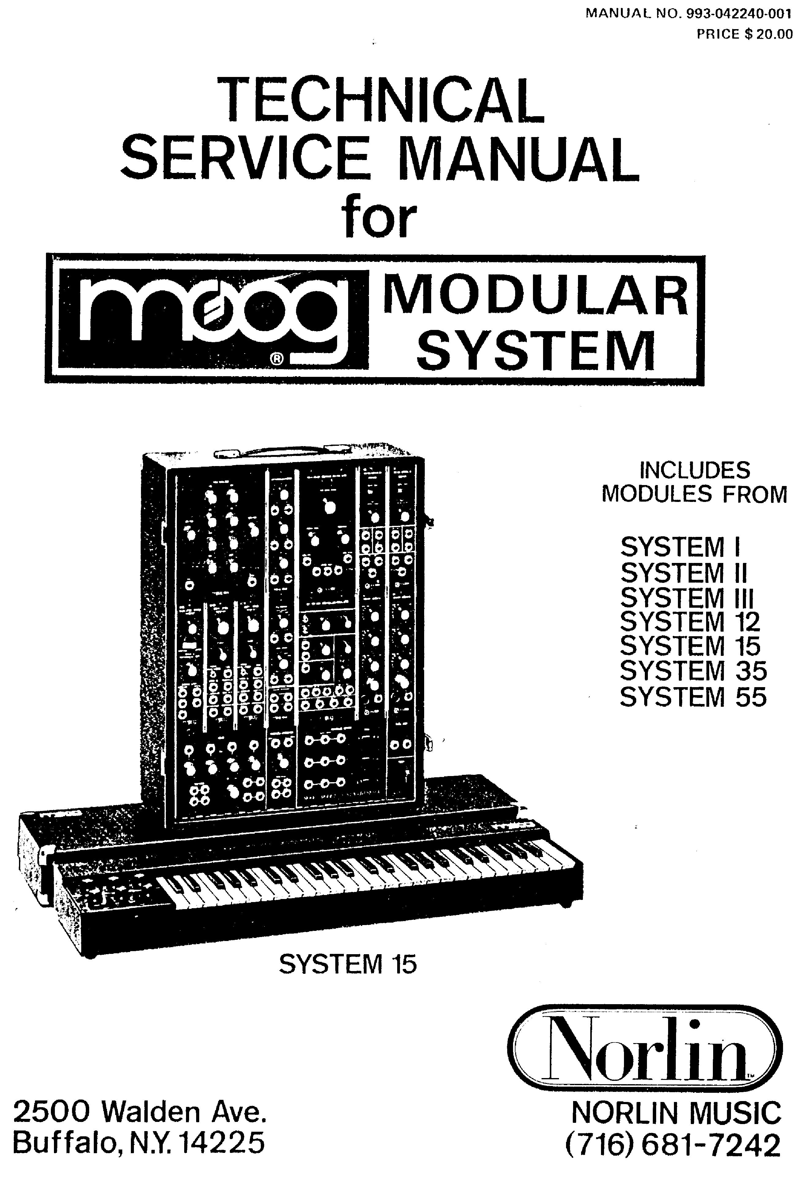 moog system i ii iii 12 15 35 55 service manual download