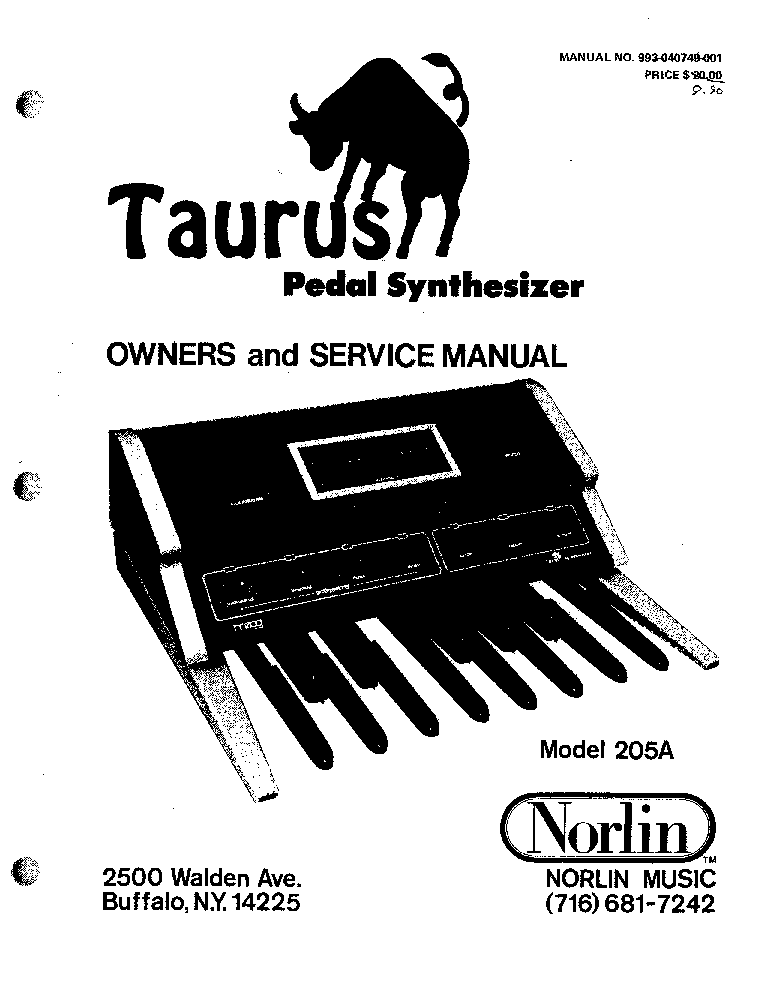 moog taurus model 205a owners sm service manual download, schematics  moog taurus model 205a owners sm service manual (1st page)