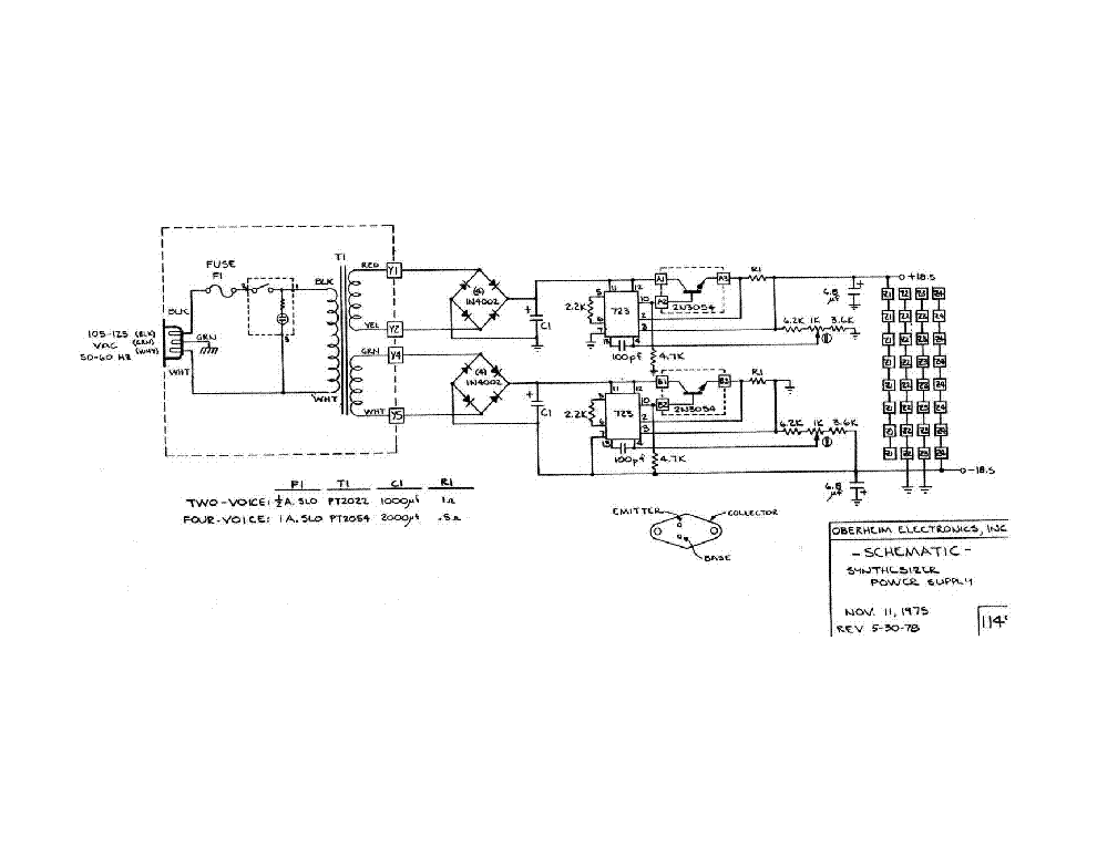 OBERHEIM OB3 SM Service Manual Free Download, Schematics