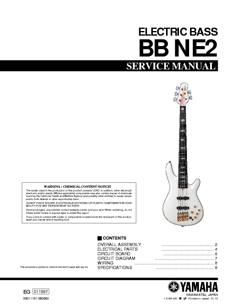 Yamaha bb ne2 electric bass guitar sm service manual download yamaha bb ne2 electric bass guitar sm service manual 1st page cheapraybanclubmaster Choice Image