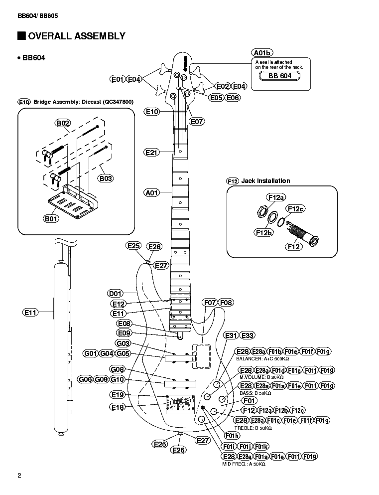 Yamaha Electric Bas Guitar Wiring Diagram
