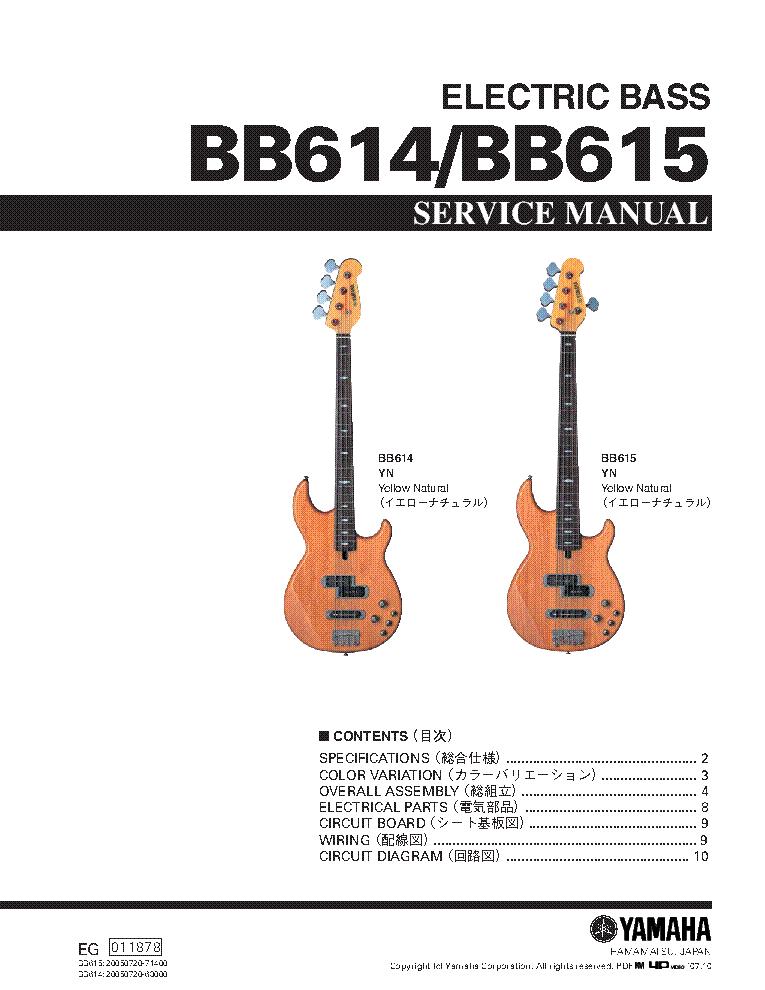 Yamaha Bas Wiring Diagram