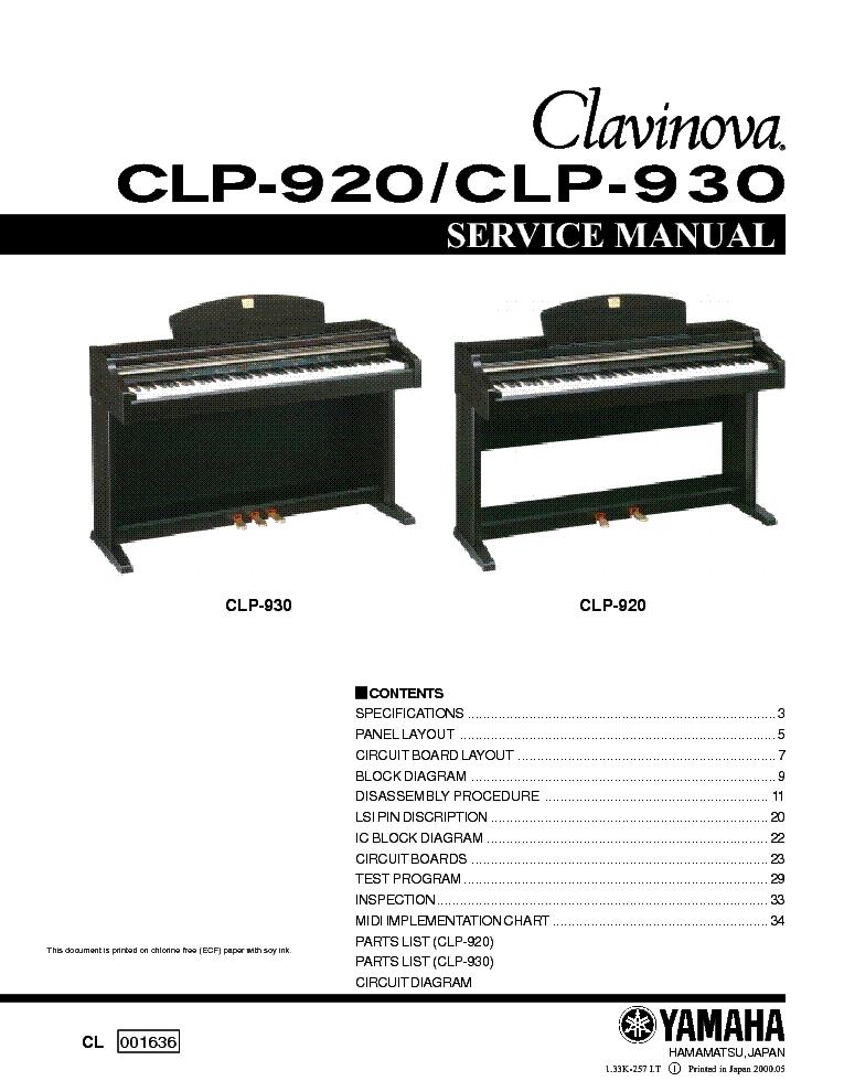 Yamaha Clavinova Manual Pdf