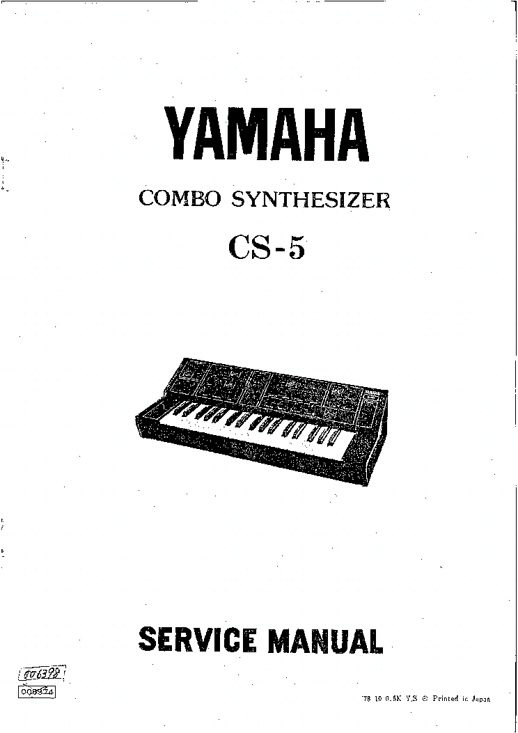 yamaha cs-5 synthesizer sm service manual (1st page)