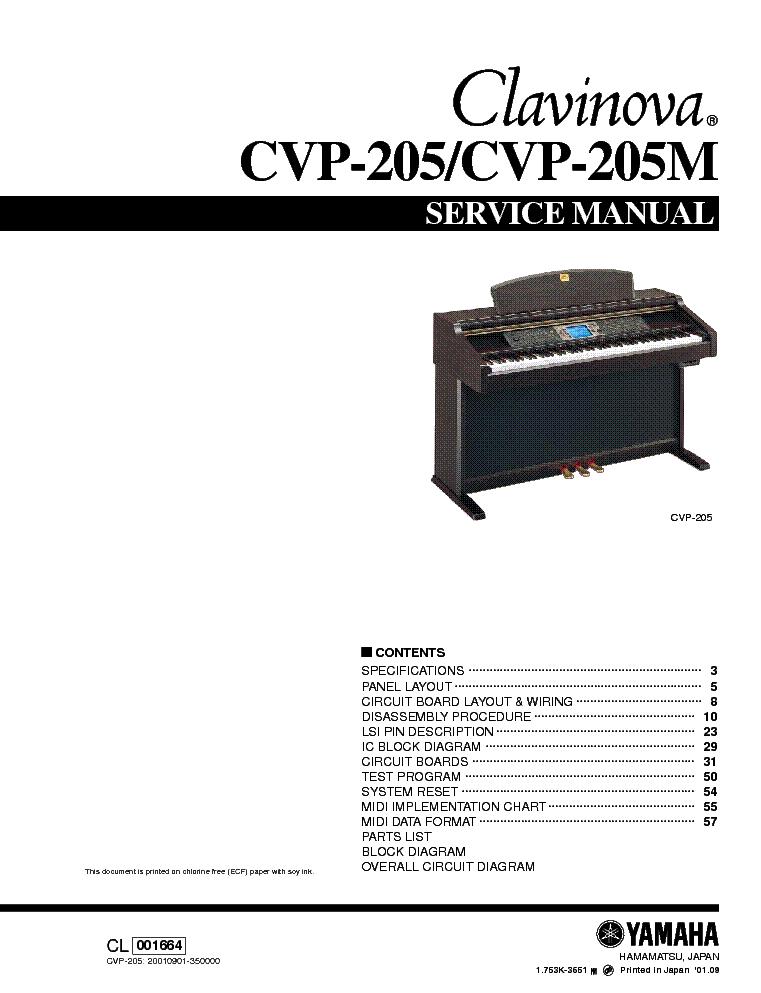 ямаха клавинова cvp 205 инструкция