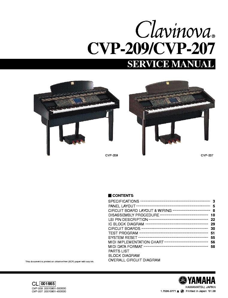 yamaha clavinova service manual cvp209 user guide manual that easy rh sibere co Yamaha Clavinova CVP 401 Yamaha Clavinova CVP 83