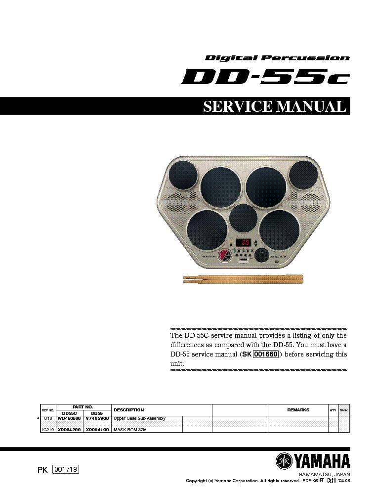 yamaha dd 11 sm service manual download schematics eeprom repair rh elektrotanya com Review Yamaha Dd55 Yamaha DD 55C Manual User
