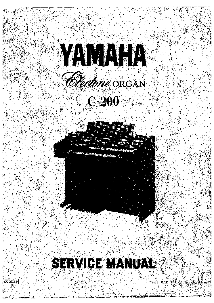 YAMAHA ELECTONE C-200 service manual (1st page)