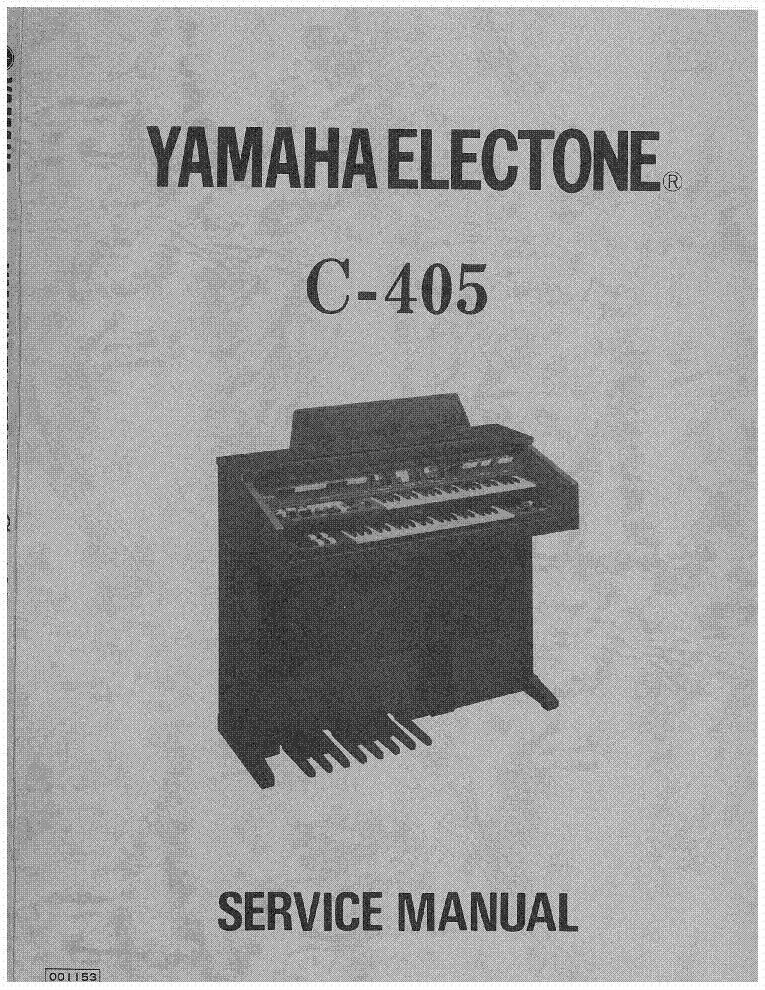 YAMAHA ELECTONE C-405 SM service manual (1st page)