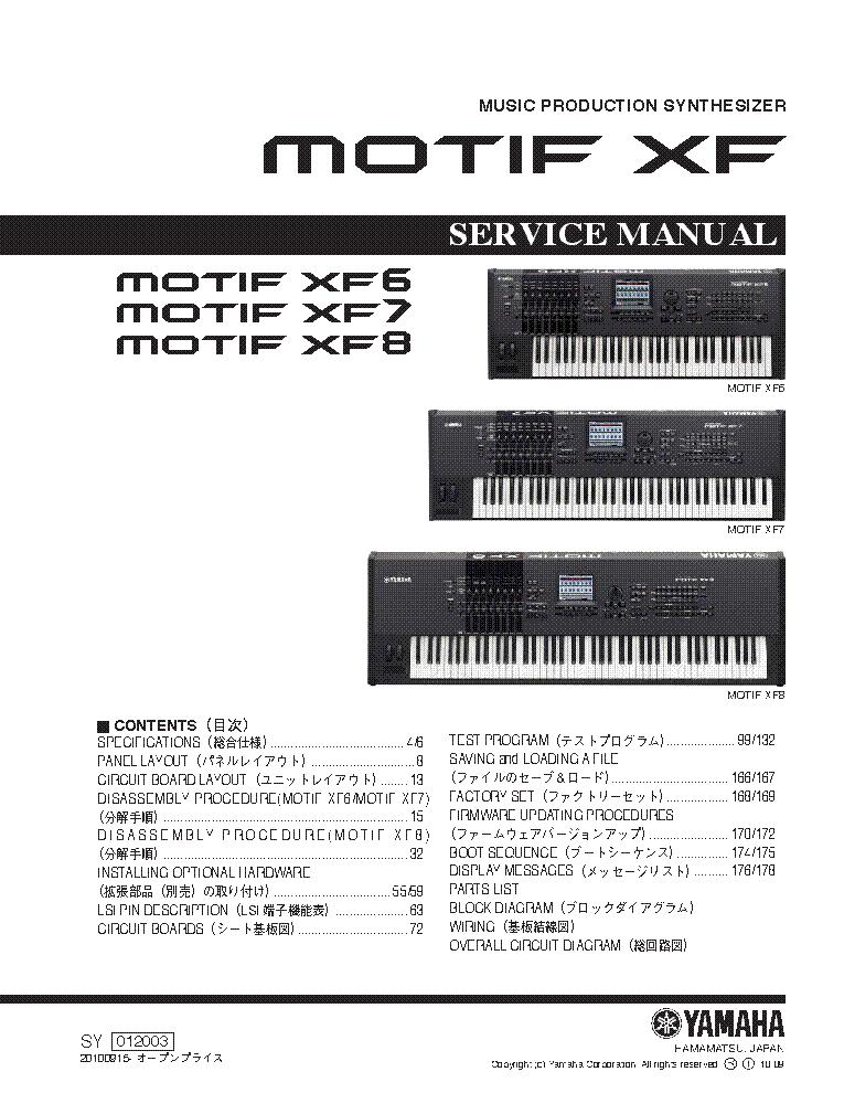 Motif xf manual