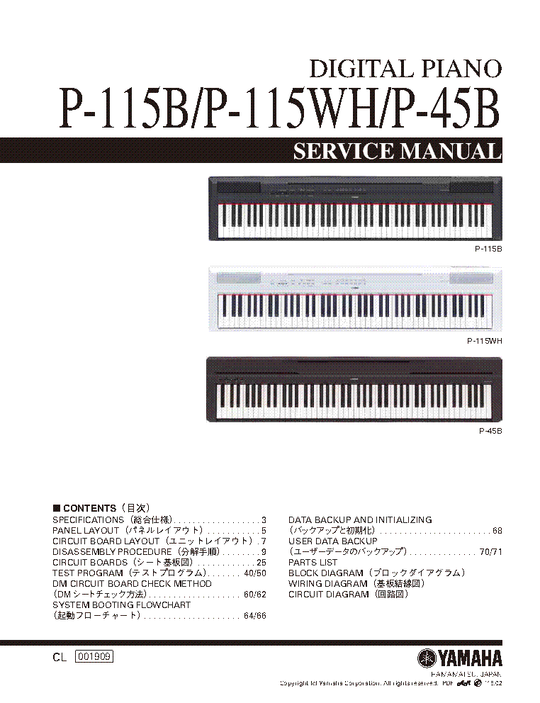 P-115 overview p-series pianos musical instruments.