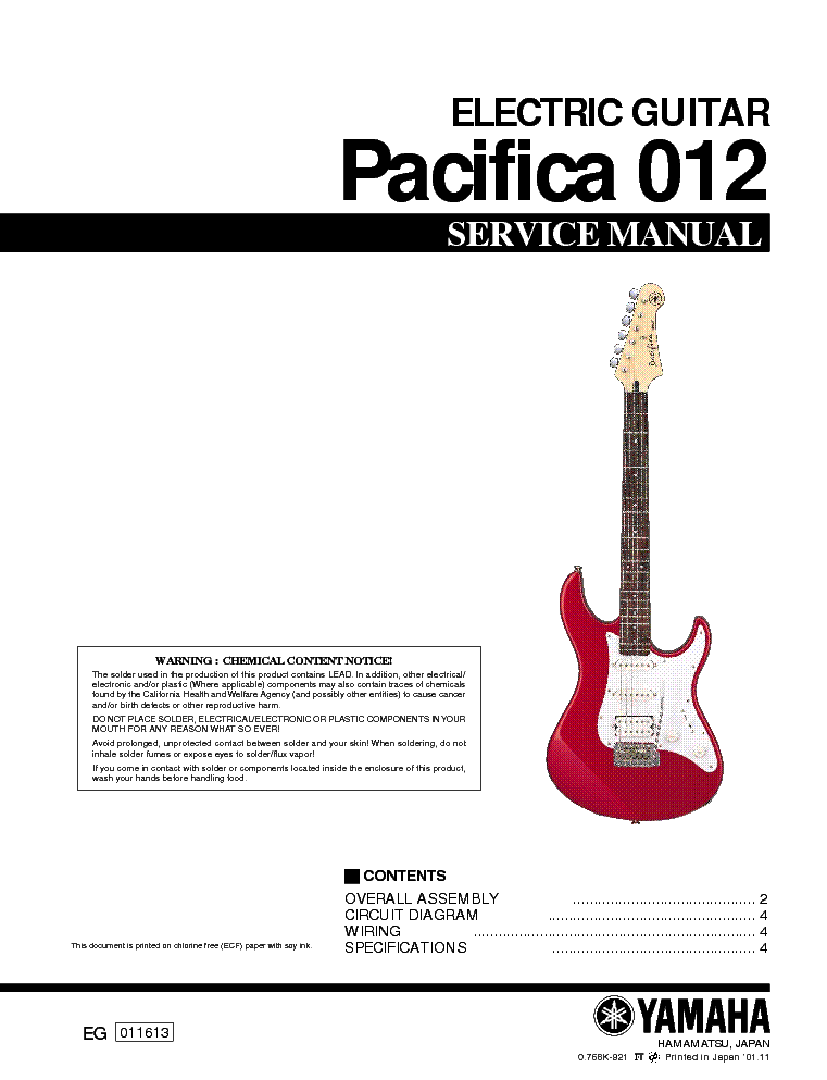 yamaha pacifica 012 service manual download schematics eeprom rh elektrotanya com Japanese Fender 1957 Reissue Wiring Diagram with 5 Way Switch Humbucker ...