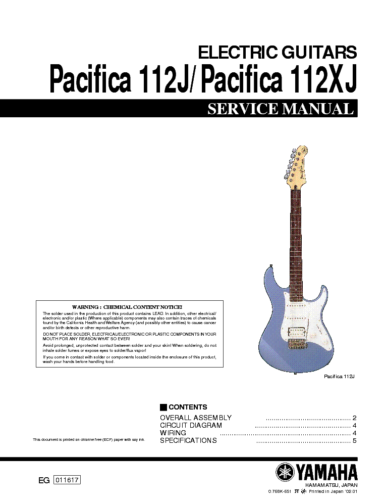 Yamaha Pacifica Circuit Diagram: YAMAHA PACIFICA 112J 112XJ Service Manual download schematics rh:elektrotanya.com,Design