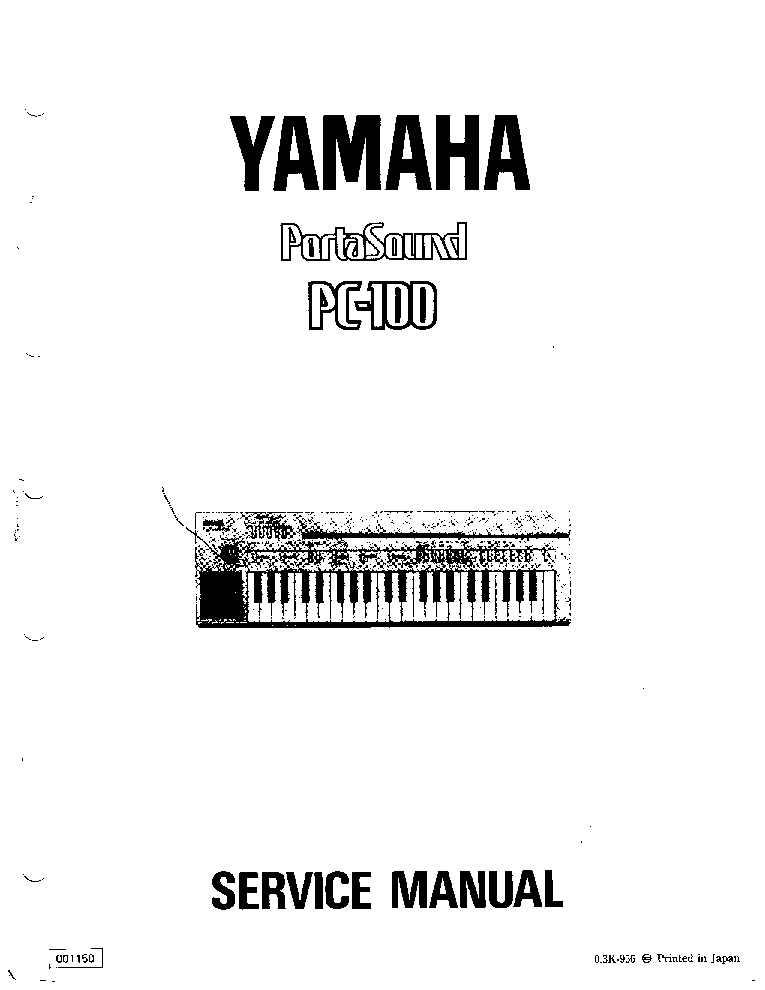 YAMAHA PC-100 SM service manual