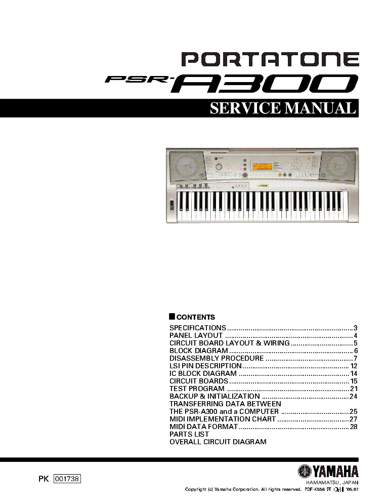 yamaha p 80 sm service manual download schematics eeprom repair rh elektrotanya com