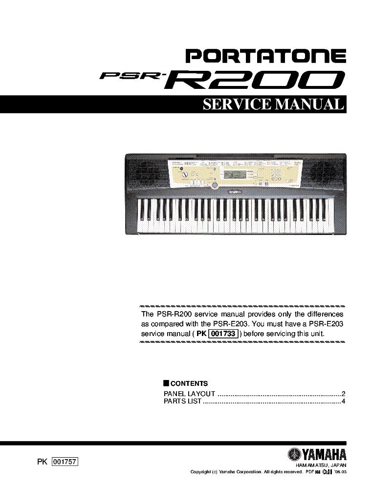 YAMAHA MOTIF ES6 ES7 ES8 Service Manual download, schematics