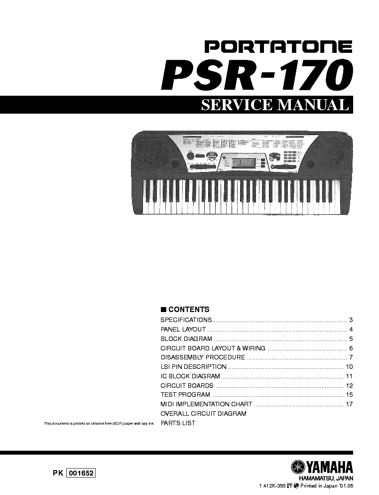 yamaha psr 170 sm service manual download schematics eeprom rh elektrotanya com teclado yamaha psr 170 manual yamaha psr 170 service manual