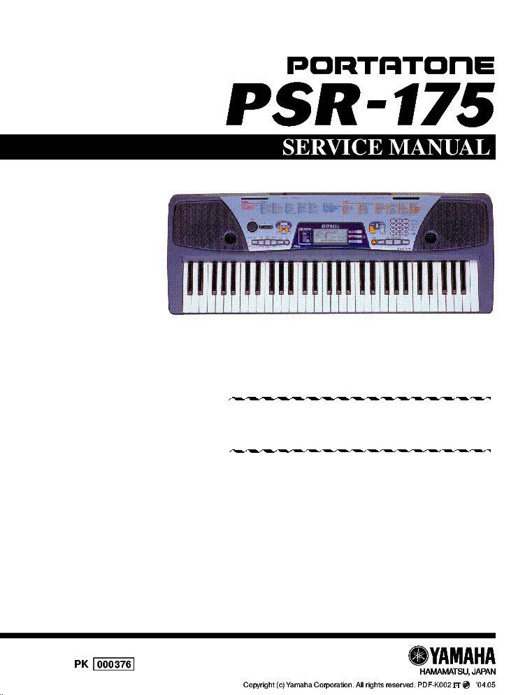 yamaha psr 200 service manual download schematics eeprom repair rh elektrotanya com Electronic Keyboard Yamaha PSR 190 Electronic Keyboard Yamaha PSR 172