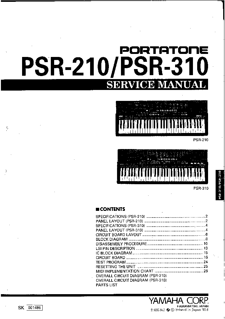yamaha psr 210 sm service manual download schematics eeprom rh elektrotanya com yamaha psr 210 manual yamaha psr 2100 manual