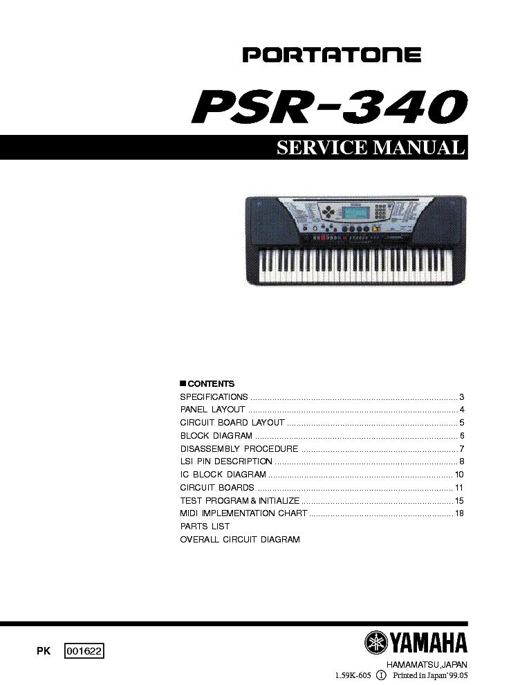 yamaha psr 340 service manual download schematics eeprom repair rh elektrotanya com manual do teclado yamaha psr 340 Yamaha PSR S950