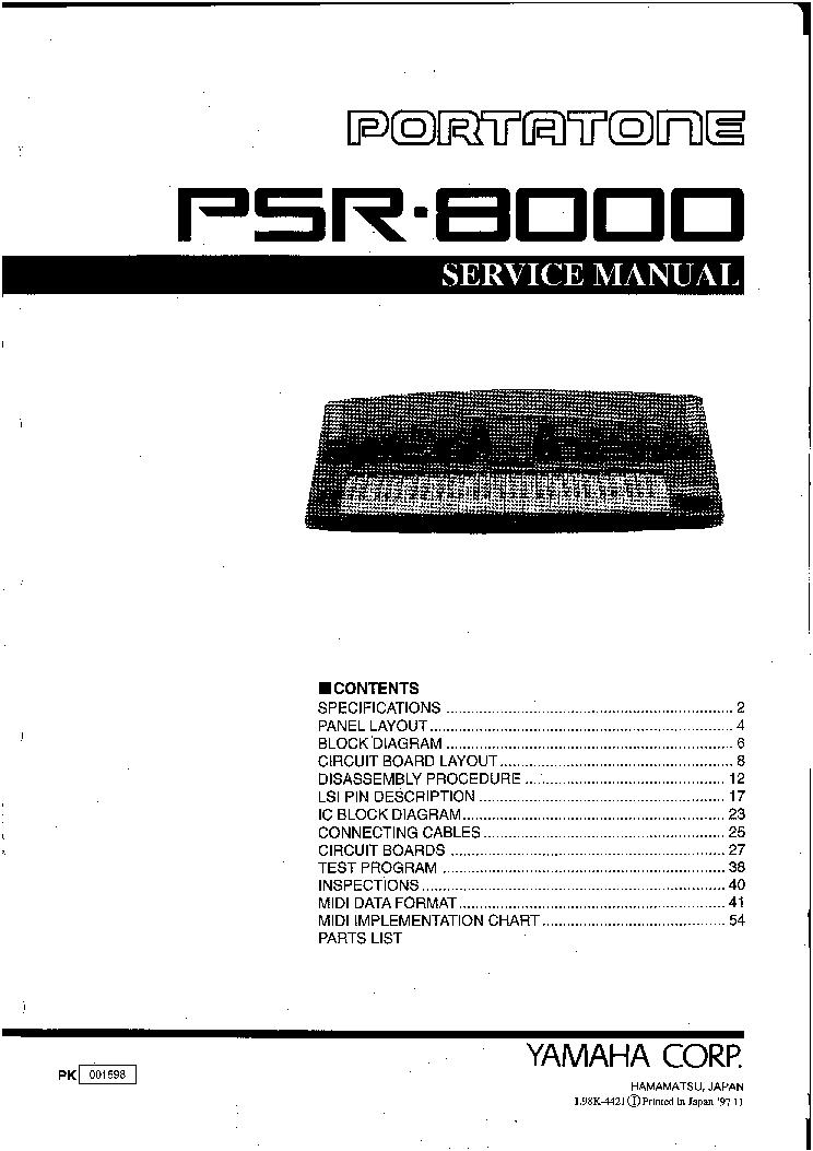 yamaha psr 8000 sm service manual download schematics eeprom rh elektrotanya com Yamaha PSR 8000 Keyboard Yamaha PSR 8000 Keyboard