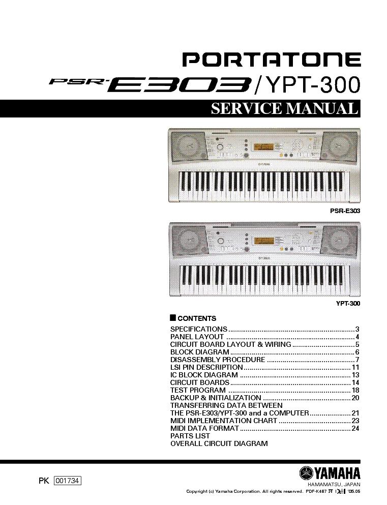 yamaha psre303 sm service manual download schematics eeprom rh elektrotanya com Teclado Yamaha YPT 320 Teclado Yamaha PSR S650
