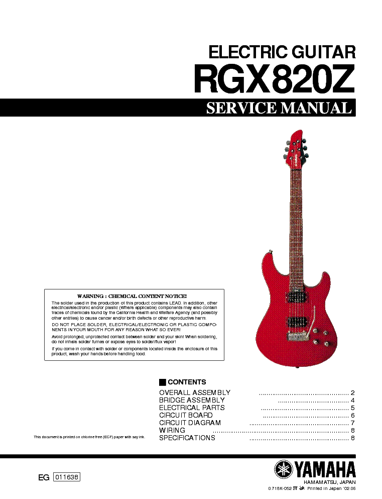 Yamaha rgx820z service manual download schematics eeprom for Yamaha ysp 5600 manual